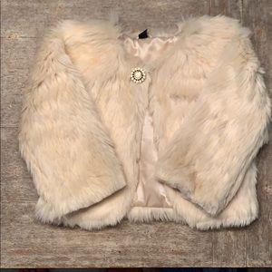 Gap girls faux fur dressy coat